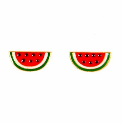 watermelon earrings, enamel jewellery, acorn and will, fruity