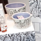 web Susie Wright Here & There - Hand made and hand painted Journey Bowls and Owl ornaments with multiple plinths and boxes