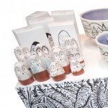 webSusie Wright Here & There - Hand made and hand painted Journey Bowls and Owl ornaments with multiple plinths and boxes