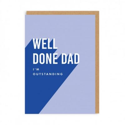 well done dad card at the red door gallery