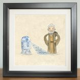 yer crazy auld old man obi wan kenobi digital print by The Grey Earl, Stars are Braw, Star Wars