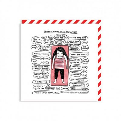 Shavasana Yoga Card by Gemma Correll,