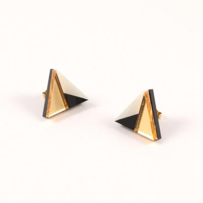 Form 011 Earrings Gold by Mystic Forms