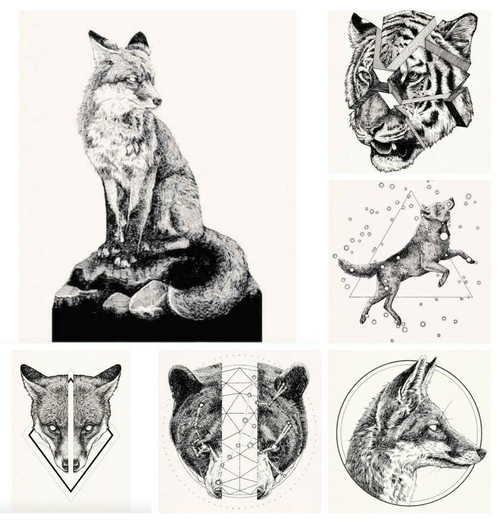 A4 Howling Wolf *DISCOUNTED OFFERS*  A3 Stunning Digital Art Poster Print