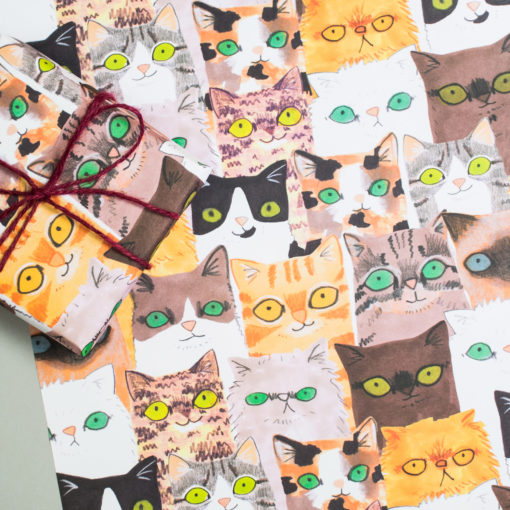 Cats Gift Wrap by Jo Clark Design