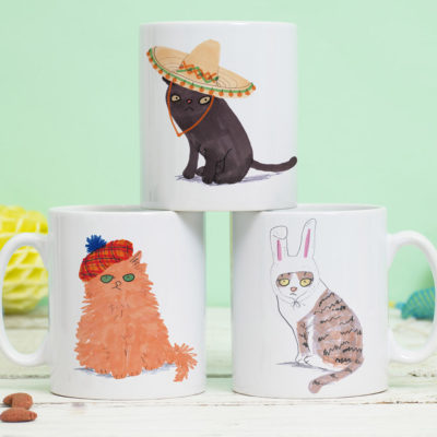 Cat's In Hats Mug by Jo Clark Design