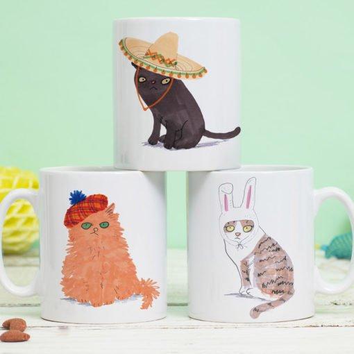Cat's In Hats Mug by Jo Clark Design