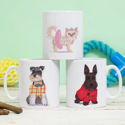 Doggy Dress Up Mug by Jo Clark Design