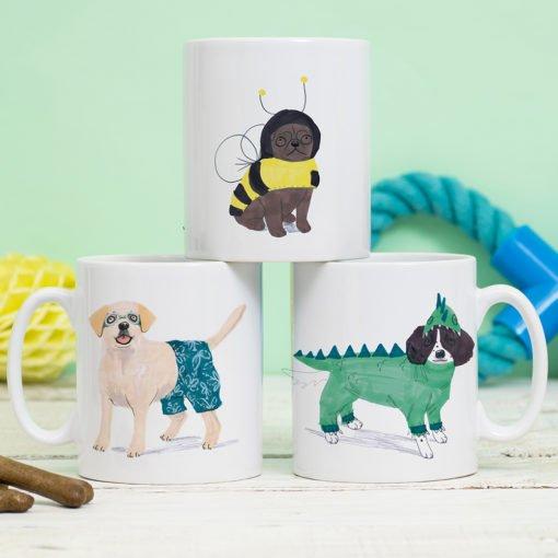 Doggy Dress Up Mug by Jo Clark Design