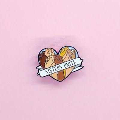 Sisters Unite Enamel Pin by House of Wonderland