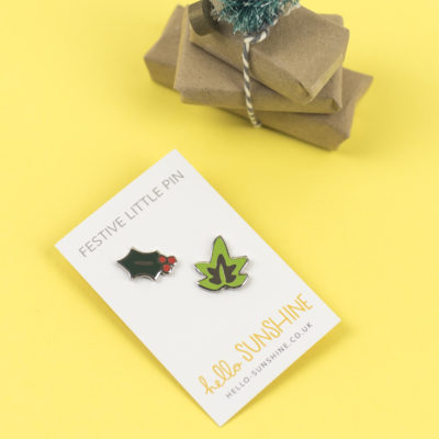 Holly And Ivy Pin Set by Hello Sunshine