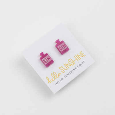 Pink Gin Earrings by Hello Sunshine