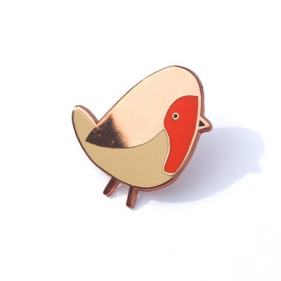 Robin Enamel Pin by Tom Hardwick