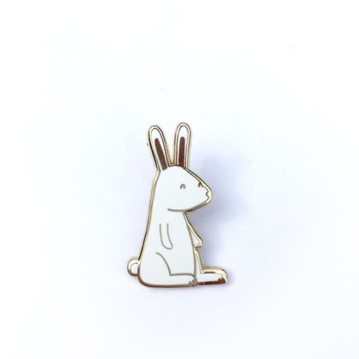 White Rabbit Enamel Pin by Tom Hardwick