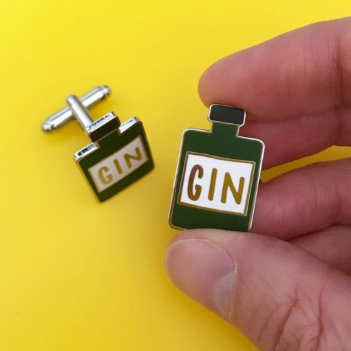 Enamel Gin Cufflinks by Hello Sunshine