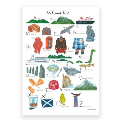 Kaitlin Mechan Scotland A-Z Print