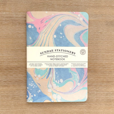 Lunar Marbled Notebook