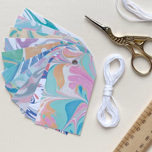 Marbled Gift Tags by Sundae Stationery