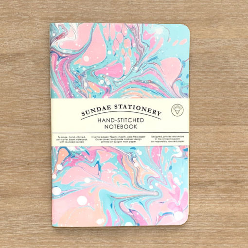 Opal Marbled Notebook by Sundae Stationery