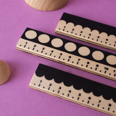 Screen Printed Rulers by Ding Ding