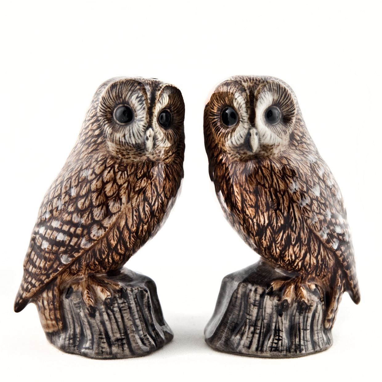 Tawny Owl Salt And Pepper Shakers by Quail Ceramics