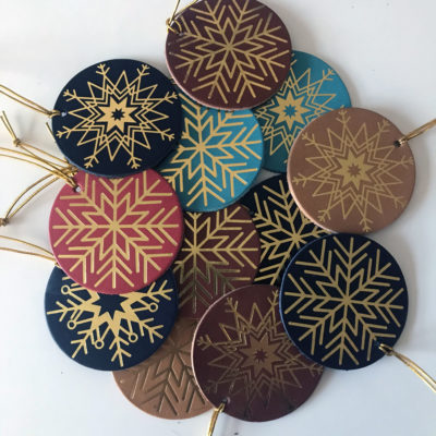 Foil Embossed Leather Decorations