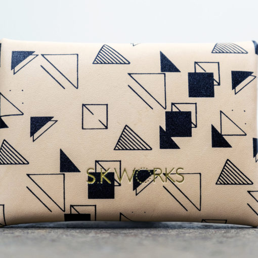 Screen Printed Leather Card Purse