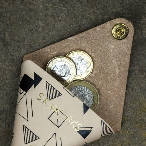 Screen Printed Leather Coin Holder