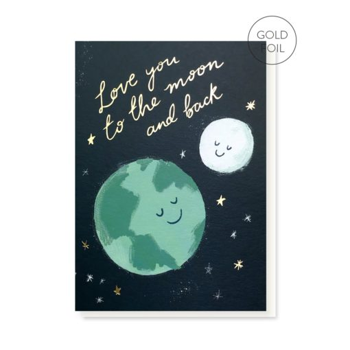 Moon And Back Card by Stormy Knight
