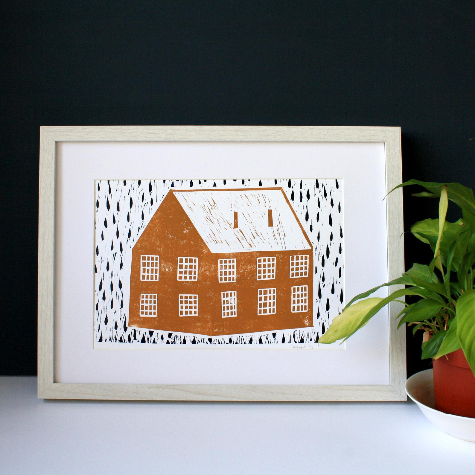 House with Rain by Molly Newport
