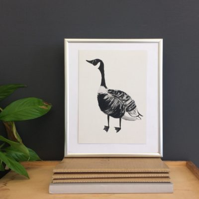 Digital A5 Goose Print by Molly Newport