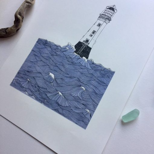 Bellrock Lighthouse by Nicola Boon