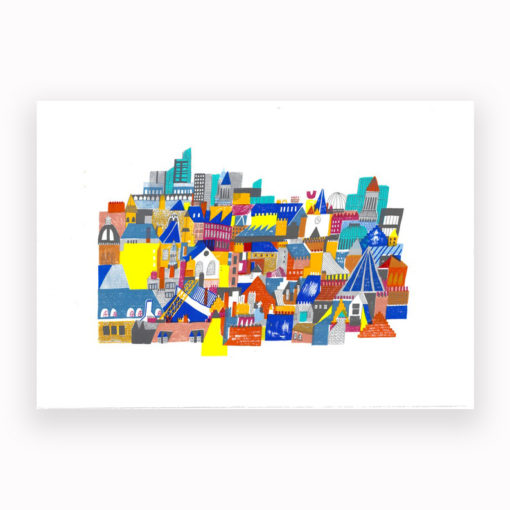 Rooftops Screen Print by Louise Smurthwaite