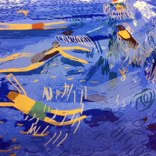 Swimmers Screen Print by Louise Smurthwaite