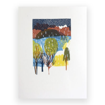 Winter Screen Print by Louise Smurthwaite