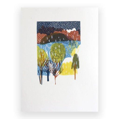 Winter Screen Print by Louise Smurthwaite