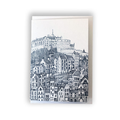 Old Town Edinburgh Card by David Fleck