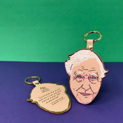 David Attenborough Key Fob by Ark Colour Design