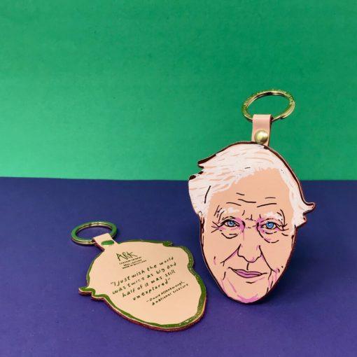 David Attenborough Key Fob by Ark Colour Design