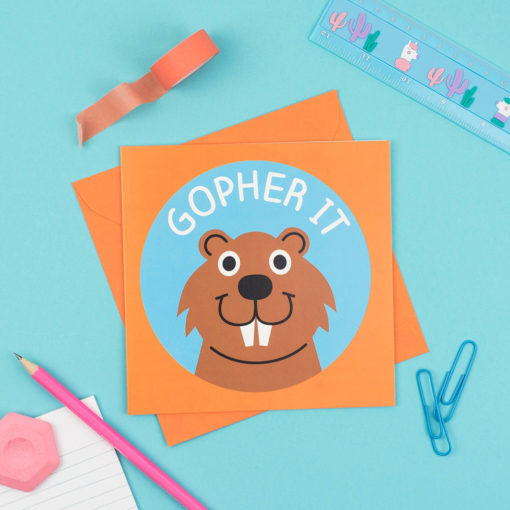 Gopher It Card By Hello Dodo