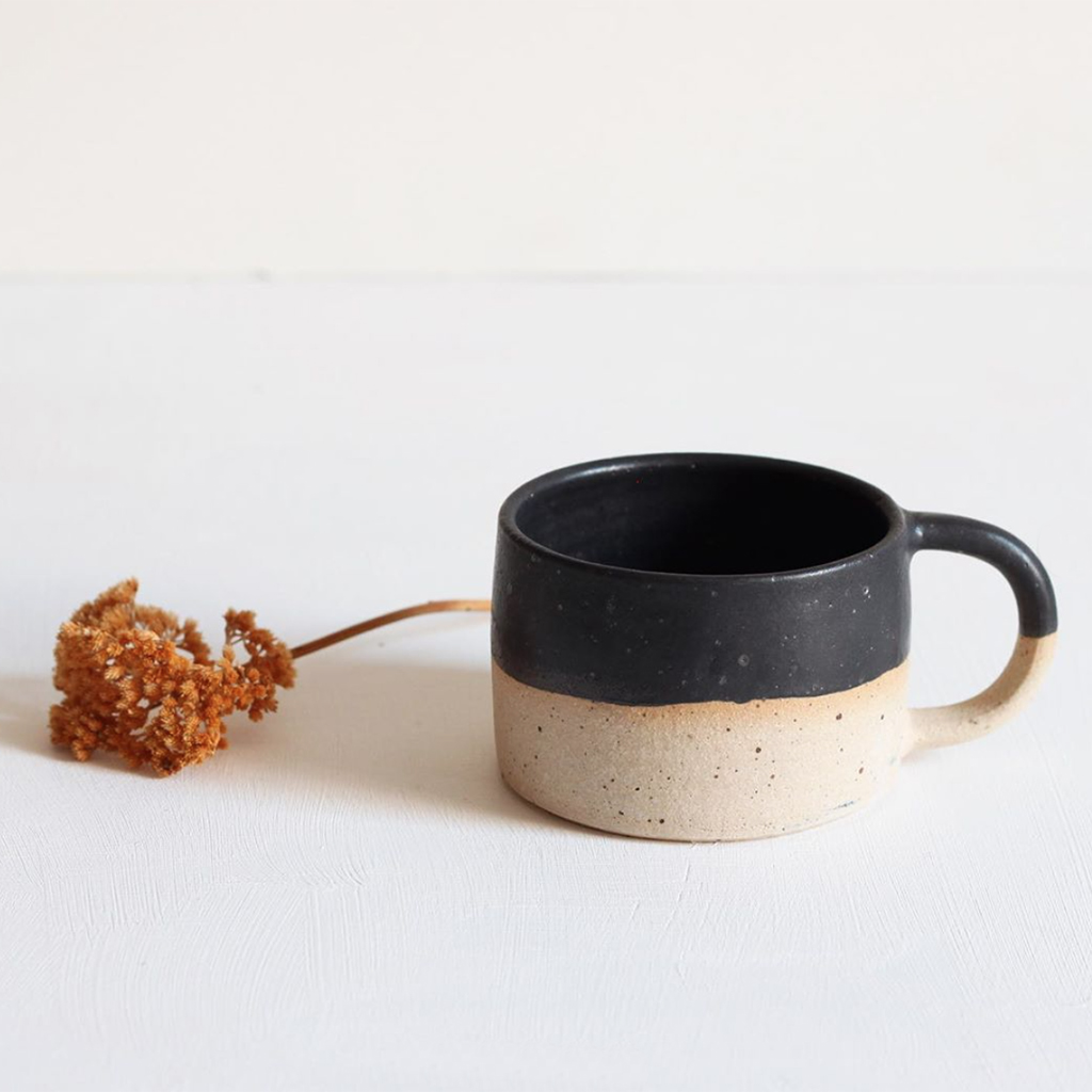 Stoneware Shallow Cup Black Glaze Ashley Gift Ideas Ceramics For Guys Gift Ideas Homewares The Red Door Gallery Art Prints Design Products Creative Gifts