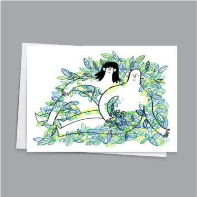 Laid Back Leafy Lovers Card by Hattie Clark