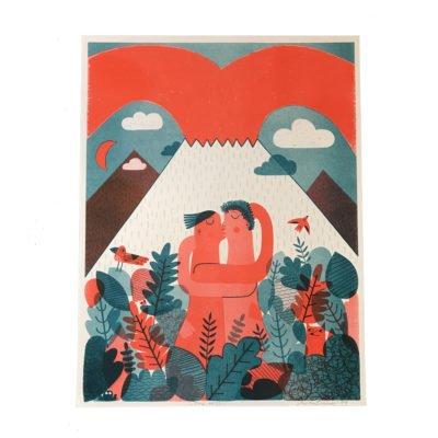 Volcano Risograph by Mina Braun