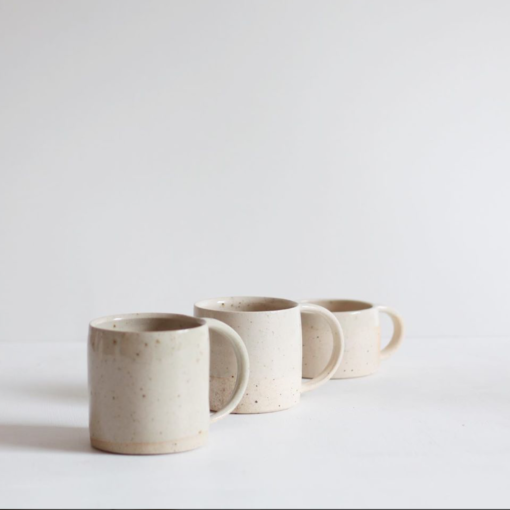 Large Stoneware Mug - Clear Glaze by KJA Studio