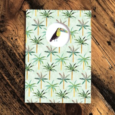 Toucan Palm Trees Card
