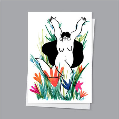 Wild And Free Greetings Card by Hattie Clark