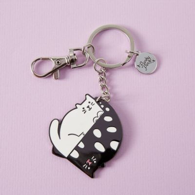 Yin Yang Cat Keyring by Punky Pins