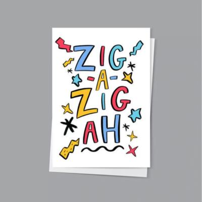 Zig A Zig Ah Card by Hattie Clark