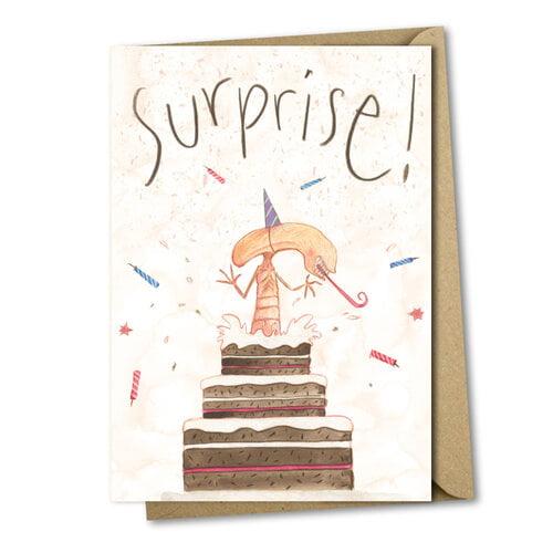 alien cake surprise  birthday card  birthday cards
