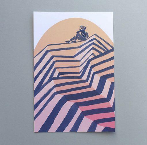 Peak Screen Print Sunset by Laurie Hastings